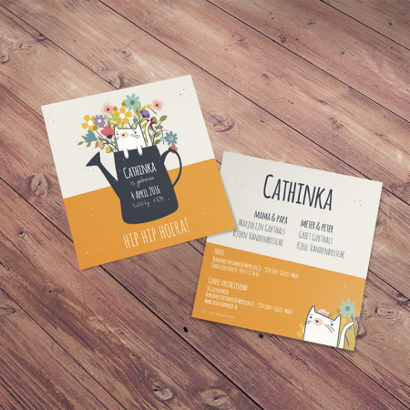 "Geboortekaartje ""Cathinka"""