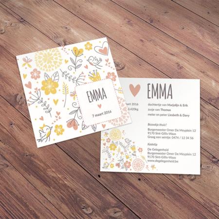 Geboortekaartje Emma