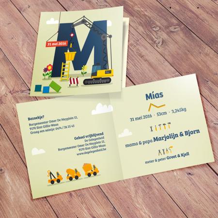 """Geboortekaartje """"Mías"""""""