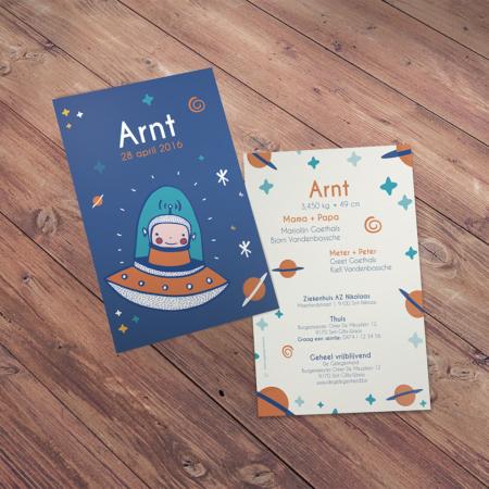 geboortekaartje Arnt