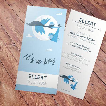 geboortekaartje Ellert