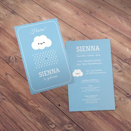 Geboortekaartje - Sienna
