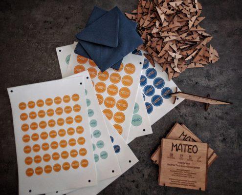 Mateo - geboortekaartje uit hout