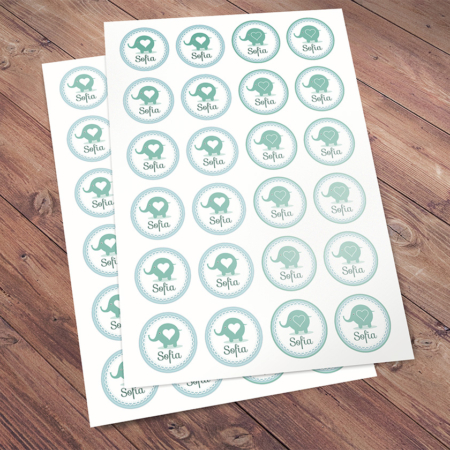 Stickers Sofia - A4 24stuks