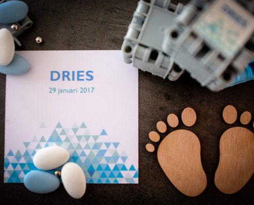 """Geboortekaartje """"Dries"""""""