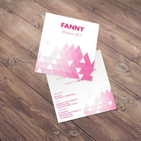 Geboortekaartje Fanny